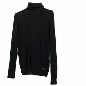Calvin Klein Black turtleneck Cozy Knit Sweater